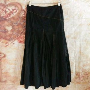 Tribal womens long western skirt size 2 flare boho